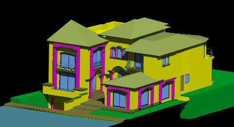imagen Casa residencial estilo california, en Vivienda unifamiliar 3d - Proyectos
