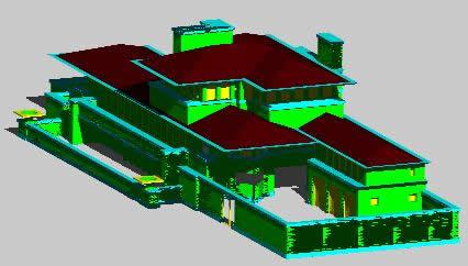 imagen Casa robie 3d, en Obras famosas - Proyectos