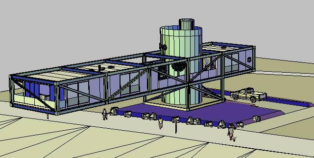 imagen Casa suspensa 3d, en Vivienda unifamiliar 3d - Proyectos