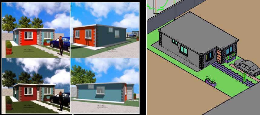 imagen Casa tipica, en Vivienda unifamiliar 3d - Proyectos