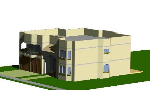 imagen Casa unifamiliar en 3d, en Vivienda unifamiliar - Proyectos