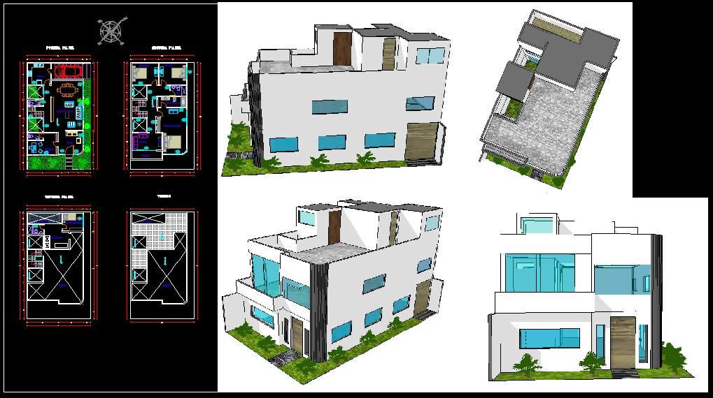 Proyectos de casas planos trendy casa cubo with proyectos - Proyectos de casas ...