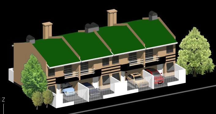 imagen Casas apareadas 3d, en Vivienda unifamiliar 3d - Proyectos