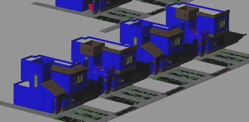 imagen Casas fraccionamiento 3d, en Vivienda unifamiliar 3d - Proyectos