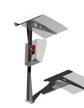 imagen Caseta telefonica 3d, en Luminarias y faroles - Parques paseos y jardines
