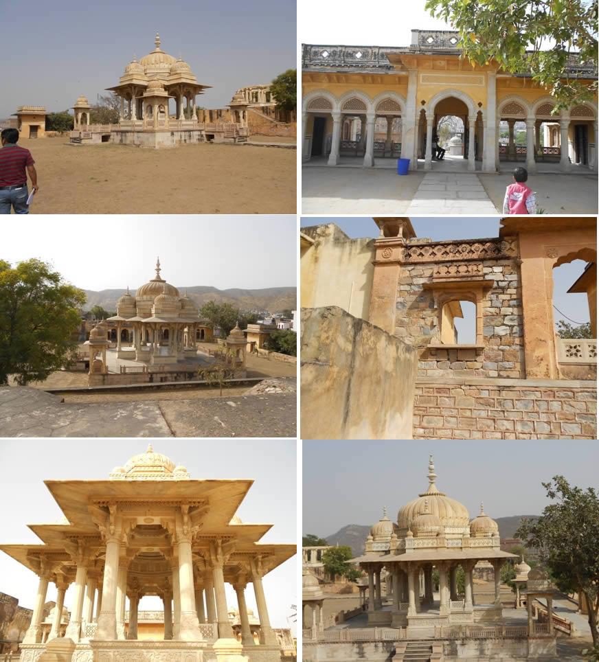 imagen Cenotafios de maharani amber jaipur, en Sitios arqueológicos - Historia