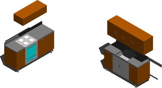 Planos de cocina 3d en cocinas muebles equipamiento en for Muebles 3d autocad