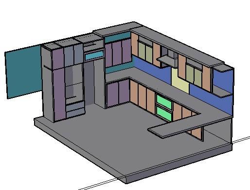 Planos de cocina 3d en cocinas sanitarios en planospara for Planos de cocinas 3d