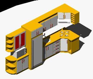 Objetos 3d para autocad gratis for Muebles de oficina en autocad 3d gratis