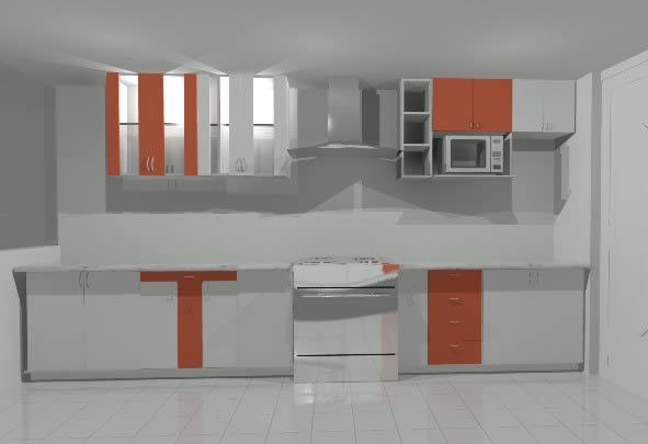 Cocina en 3d en cocinas muebles equipamiento en planospara for Muebles de cocina departamento