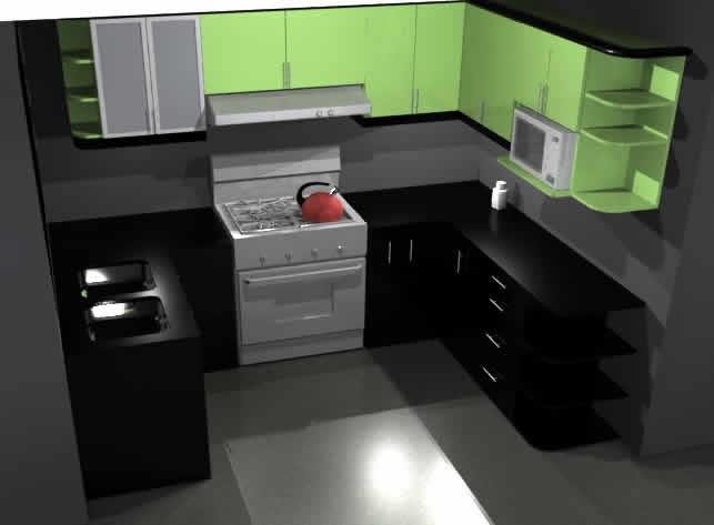 Cocinas archives p gina 24 de 27 planos de casas for Planos de cocinas 3d