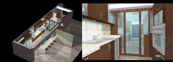 Cocinas archives planos de casas planos de construccion for Medidas de muebles de cocina integral