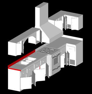 Planos de cocina integral 3d en cocinas muebles for Muebles 3d autocad