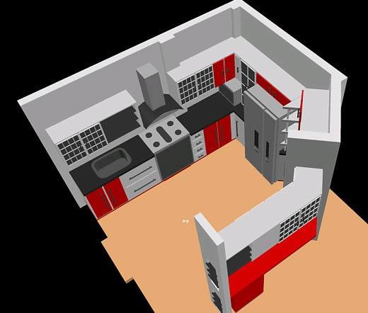Cocinas archives planos de casas planos de construccion for Planos de cocina en 3d
