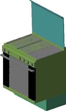 imagen Cocina mabe 3d, en Cocinas - Muebles equipamiento
