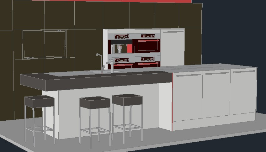 Dibujos de muebles de cocina vector clip art de conjunto - Planos de cocinas modernas ...