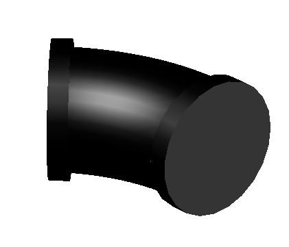 imagen Codo de 45 3d, en Válvulas tubos y piezas - Máquinas instalaciones