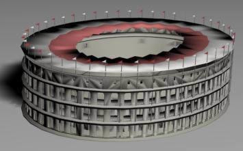 imagen Coliseo romano 3d, en Teatros y edificios públicos - Historia