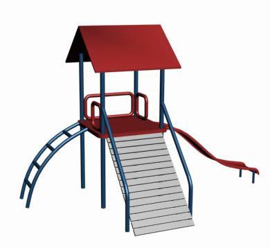 imagen Columpio para niños 3d, en Juegos infantiles - Equipamiento urbano