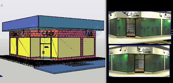 imagen Comercio textil con materiales aplicados - 3d, en Comercios varios - Proyectos