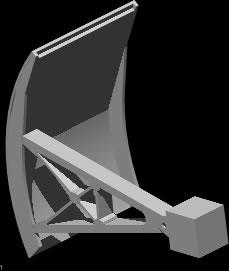 imagen Compuerta radial 3d, en Saneamiento cloacal y pluvial - Infraestructura