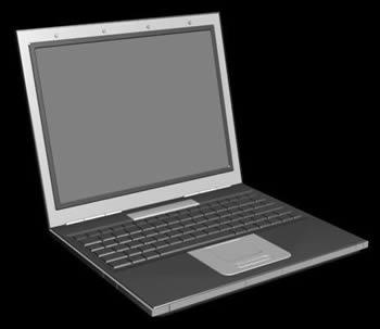 imagen Computadora portatil 3d, en Informática - Muebles equipamiento
