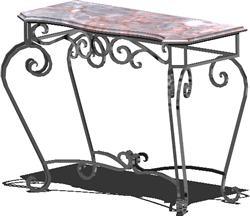 imagen Consoleta - mesa de herreria artistica forjado con tapa de marmol, en Mesas y juegos de comedor 3d - Muebles equipamiento