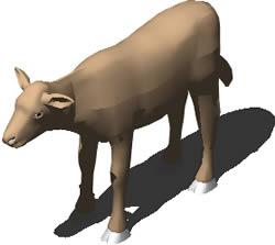 imagen Cordero 3d con materiales aplicados, en Animales 3d - Animales