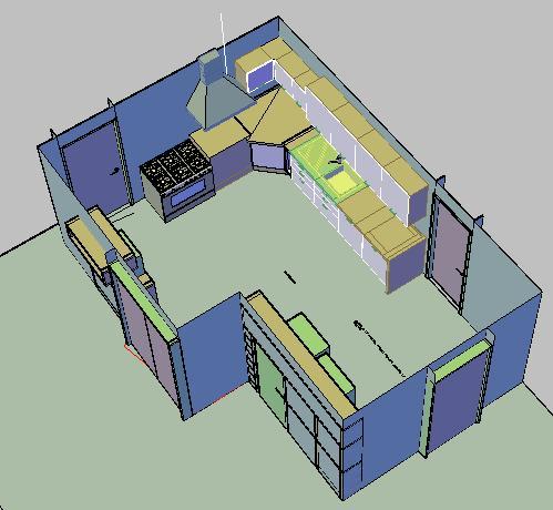 Cocinas archives p gina 14 de 27 planos de casas for Planos de cocinas 3d