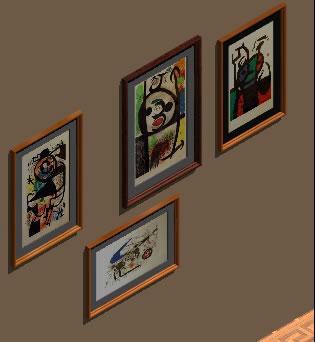 imagen Cuadros j.miro, en Cuadros - Muebles equipamiento