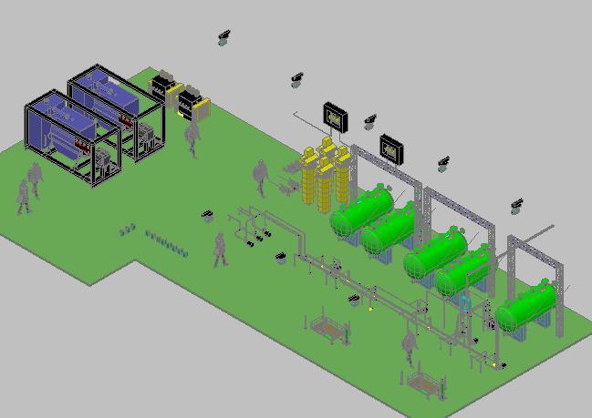 imagen Cuarto de maquinas 3d, en Salas de máquinas - Instalaciones