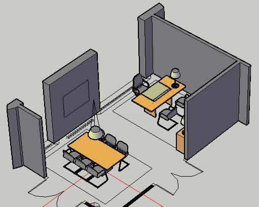 Oficinas y laboratorios archives p gina 4 de 11 planos for Muebles de oficina puestos de trabajo