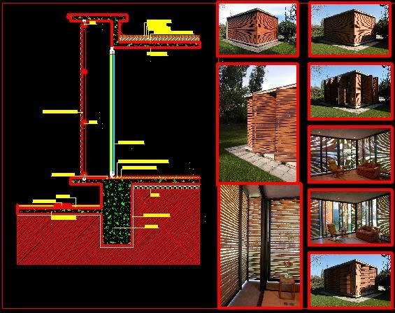 imagen Detalle casa cubo, en Vivienda unifamiliar 3d - Proyectos