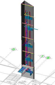 imagen Detalle  de electricidad en vertical 3d, en Electricidad - Instalaciones