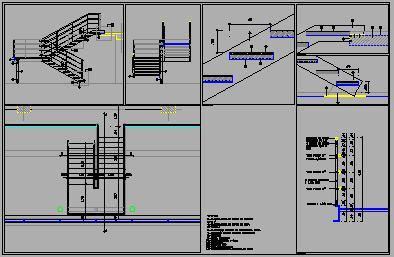Detalles de estructuras metalicas dwg dibujo de autocad arch for Escaleras metalicas planos