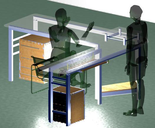 imagen Detalle de  escritorio, en Escritorios - Muebles equipamiento