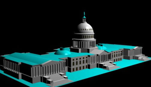 imagen Dibujo 3d, en Edificios varios - Historia