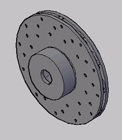 imagen Disco de freno 3d ventilado, en Válvulas tubos y piezas - Máquinas instalaciones