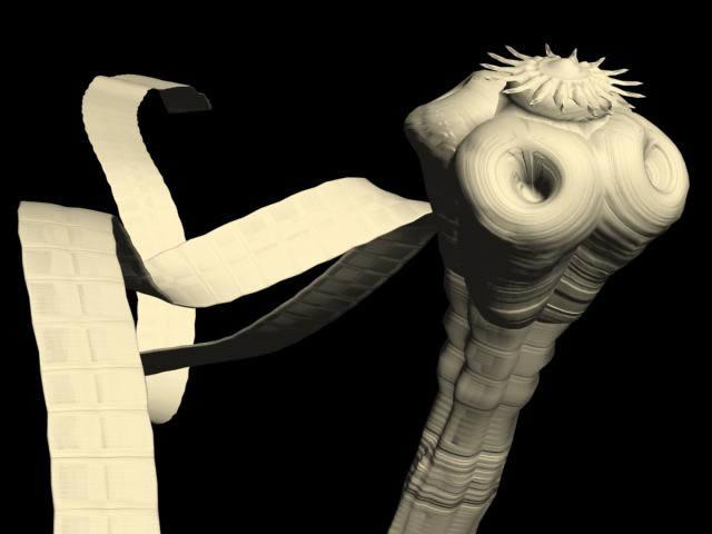 imagen Diseño de tenia en 3d, en Animales 3d - Animales