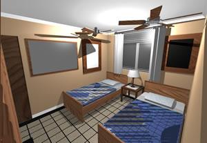 imagen Dormitorio  equipado, en Dormitorios - Muebles equipamiento