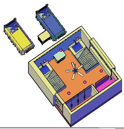 imagen Dormitorio remodelacion  3d, en Dormitorios - Muebles equipamiento