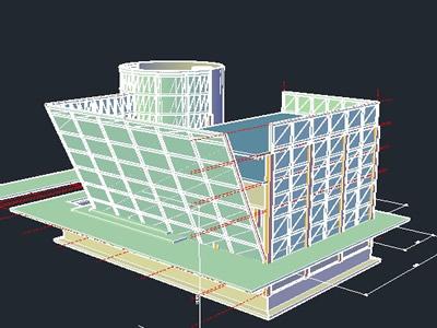 imagen Edificio 3d, en Oficinas bancos y administración - Proyectos