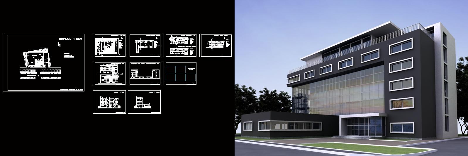 imagen Edificio administrativo, en Oficinas bancos y administración - Proyectos