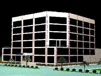 imagen Edificio corporativo en 3d, en Oficinas bancos y administración - Proyectos