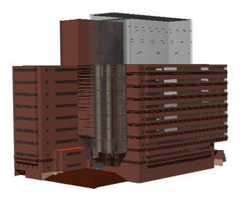 imagen Edificio de oficinas en 3d - edificio sonda, en Oficinas bancos y administración - Proyectos