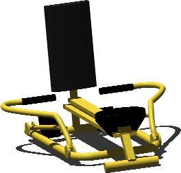 imagen Equipos de gimnasio 3d remo - autor fernando martínez, en Equipamiento gimnasios - Deportes y recreación