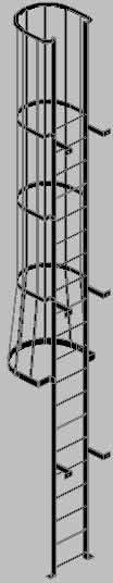 imagen Escala de gato 3d, en Modelos de escaleras 3d - Escaleras