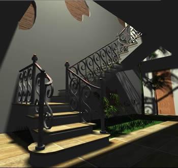 Planos de casas planos de construccion for Planos de escaleras de hierro
