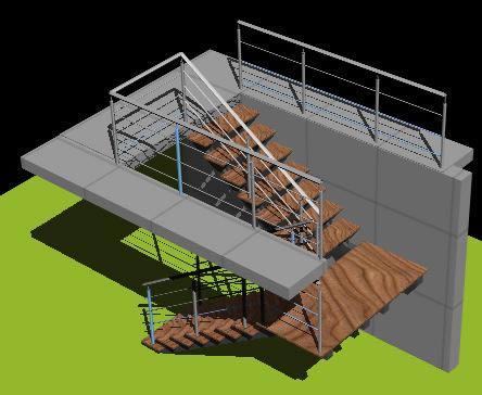 imagen Escalera 3d, en Modelos de escaleras 3d - Escaleras
