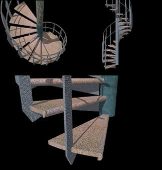 imagen Escalera 3d., en Modelos de escaleras 3d - Escaleras